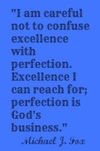 perfection quote plain