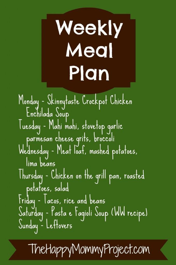 meal plan 031014