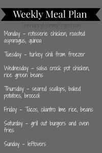 weekly meal plan 042114