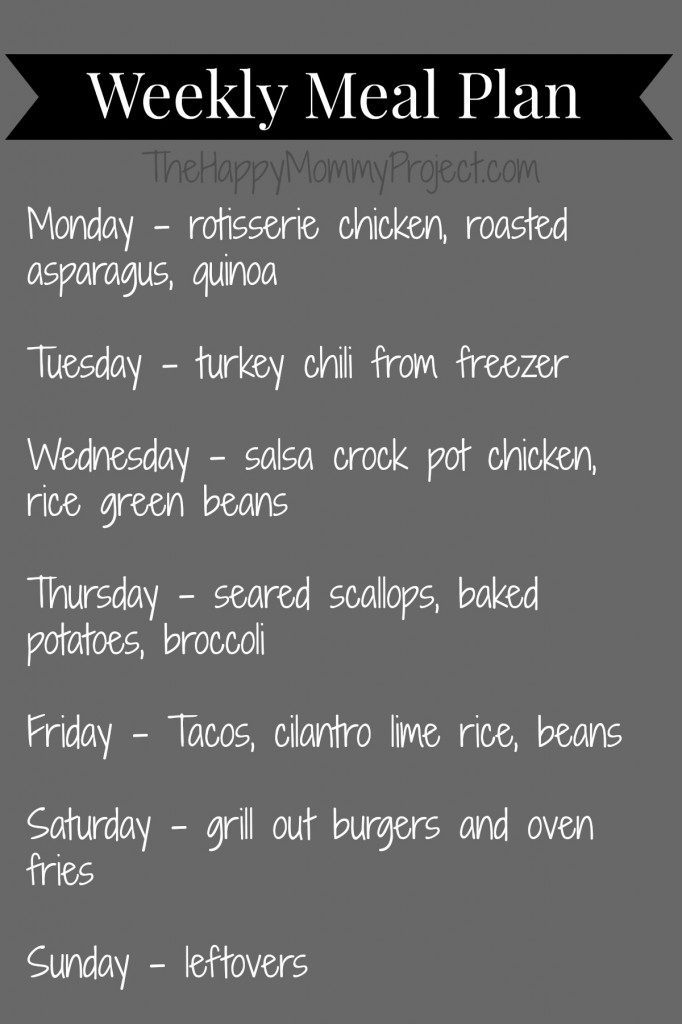 weekly meal plan 042114