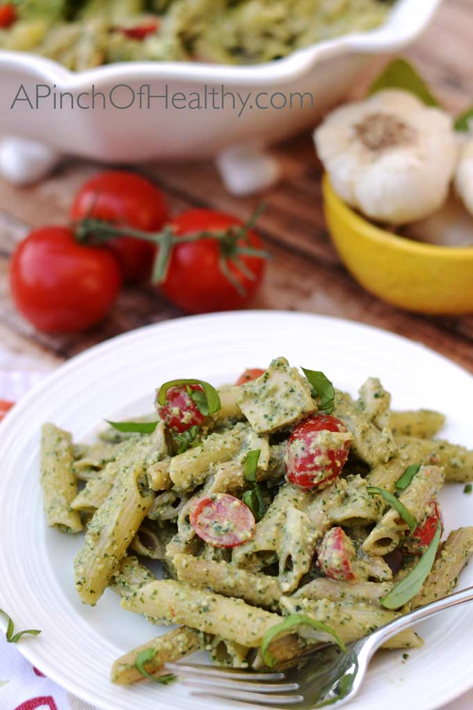 Lightened-Up-Pesto-Recipe-Plate