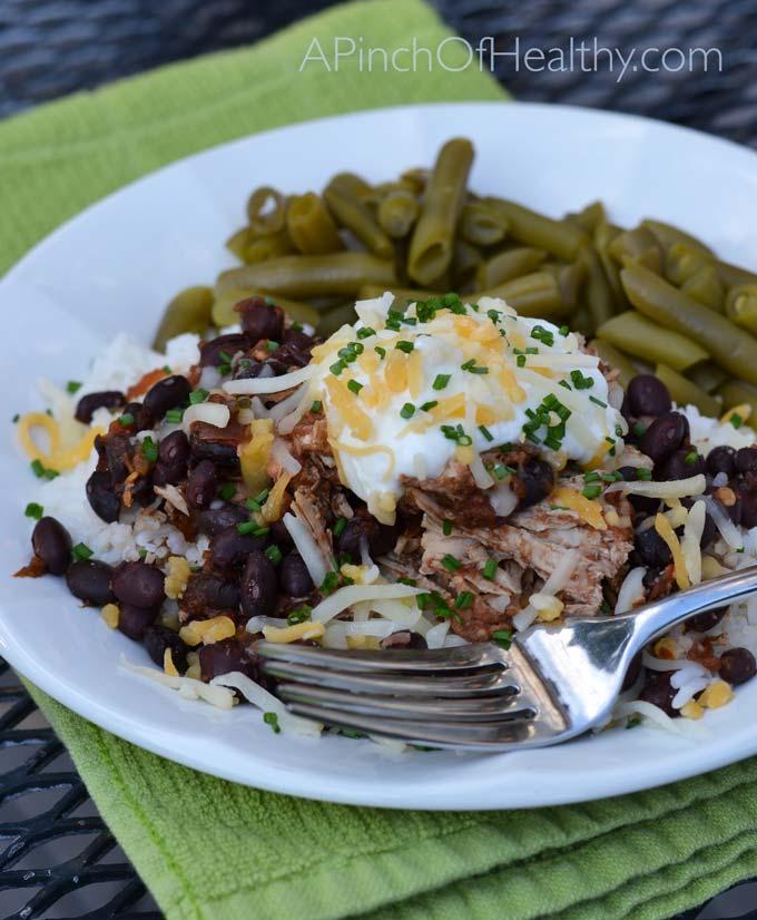 Simple Chicken Crock Pot Recipes Healthy: Easy Crock Pot Salsa Chicken Recipe