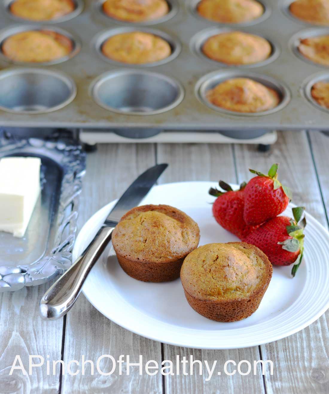 Banana Bran Muffins| APinchOfHealthy.com