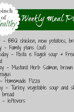 Fathers' Day Weekend and Weekly Meal Plan