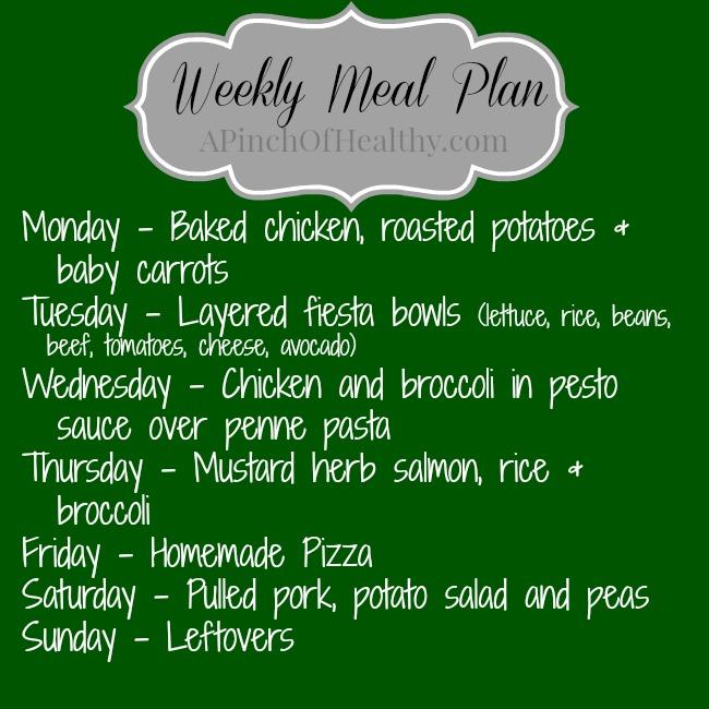Meal Plan 07282014