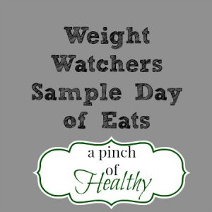 Weight Watchers sample day of eats title