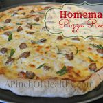 homemade pizza recipe title