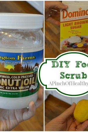 DIY Coconut Oil Foot Scrub
