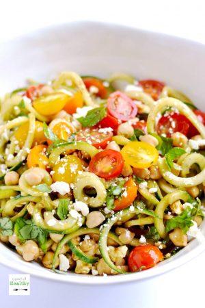 Spiralizer Greek Salad