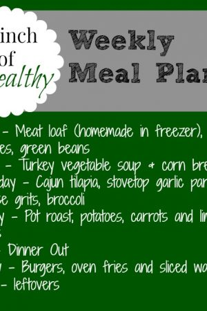 Meal Inspiration Monday Link Up! And My Meal Plan