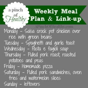 monday meal plan link up 081114