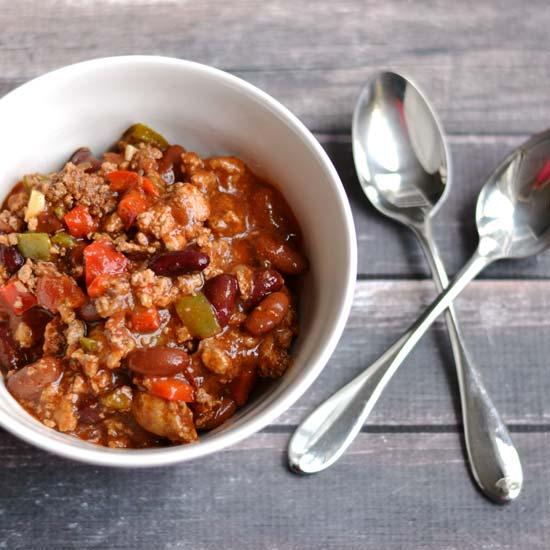 Healthy Turkey Chili| APinchOfHealthy.com