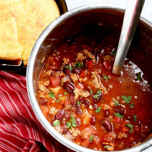 Healthy Turkey Chili Instant Pot Slow Cooker Or Stovetop A Pinch Of Healthy