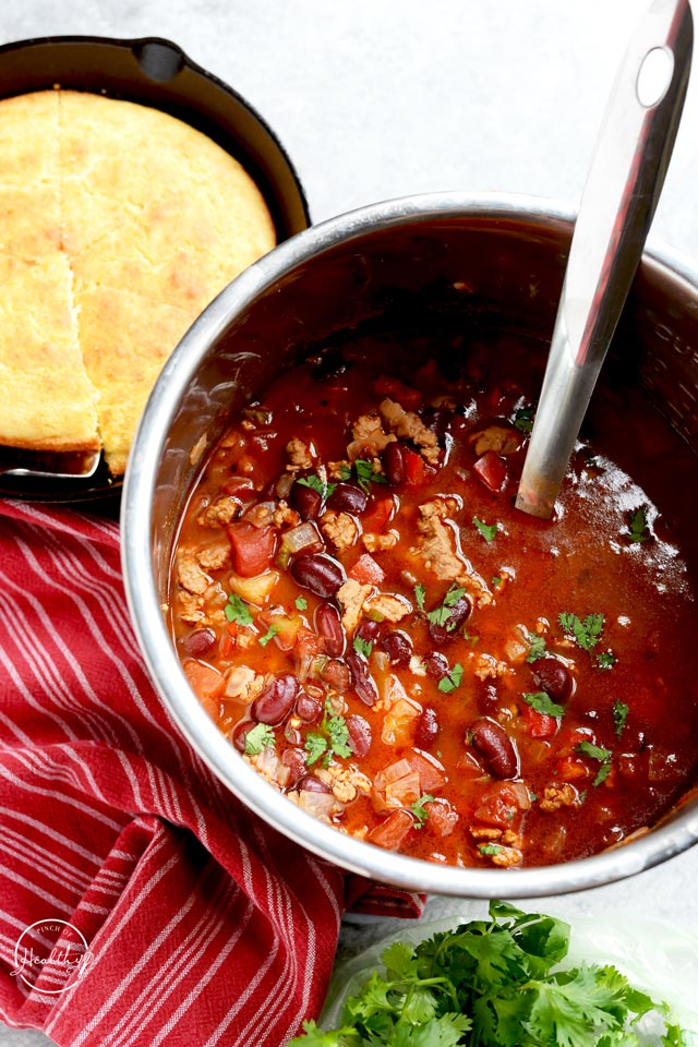 Healthy turkey chili