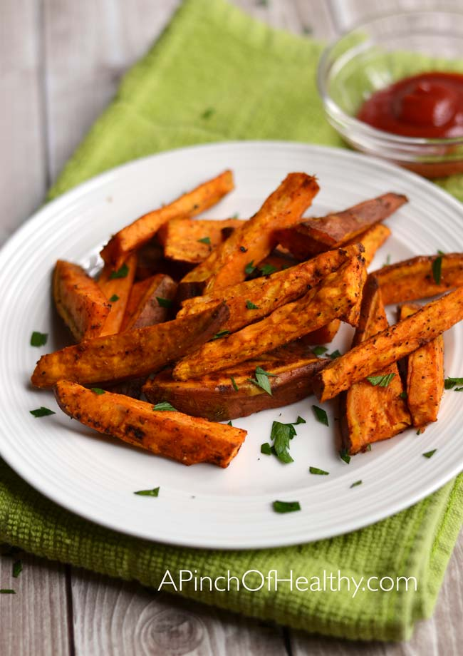 Oven Baked Sweet Potato Fries A Pinch Of Healthy