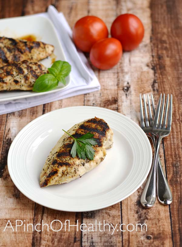 rilled Chicken Breasts on the Stovetop Grill Pan Method | APinchOfhealthy.com