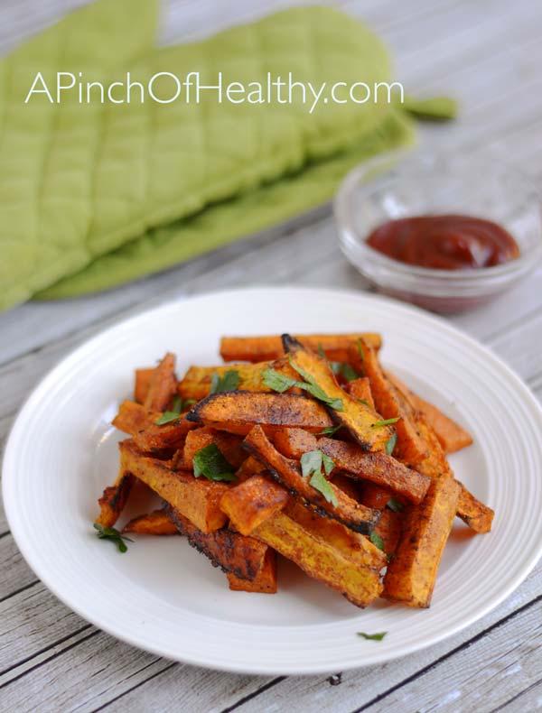 Butternut Squash Fries| APinchOfHealthy.com