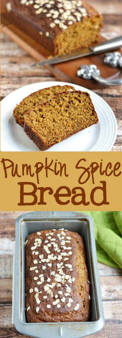 Pumpkin Spice Bread - this recipe is so moist, fluffy and delicious. You will NEVER guess that there is a healthy twist to this recipe. My family went crazy for this! Husband and kid approved! | APinchOfHealthy.com