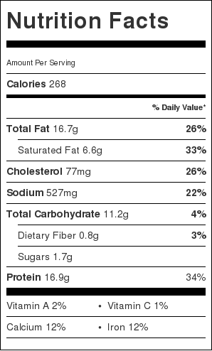 Easy recipes nutritional information