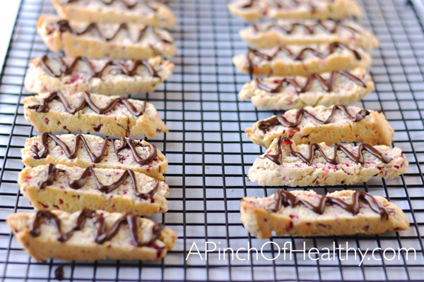 Christmas Biscotti with Cranberries, Rosemary and Dark Chocolate  APinchOfHealthy.com