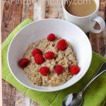 Cinnamon Maple Oatmeal - Vegan & Gluten free| APinchOfHealthy.com