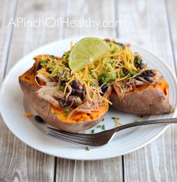 Stuffed Baked Sweet Potato| Apinchofhealthy.com