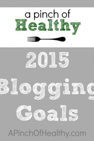 Blog Goals for 2015
