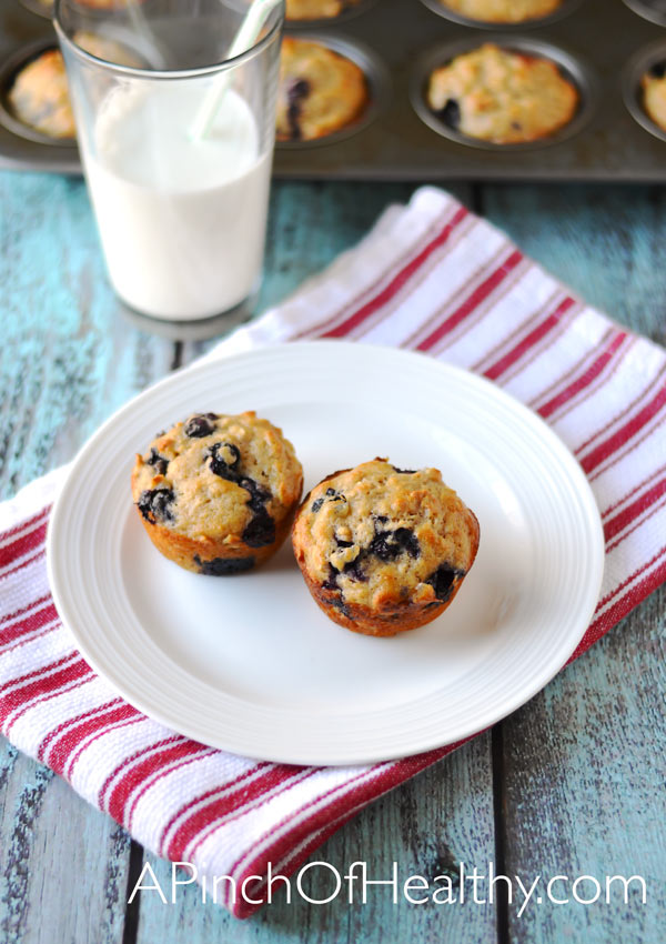 Blueberry oat muffins a pinch of healthy - Garden lites blueberry oat muffins ...