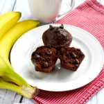 These double chocolate mocha muffins are such a delicious and filling treat. They are made with a few simple, wholesome ingredients, including real sugar, whole wheat pastry flour, Greek yogurt and coconut oil. | APinchOfHealthy.com
