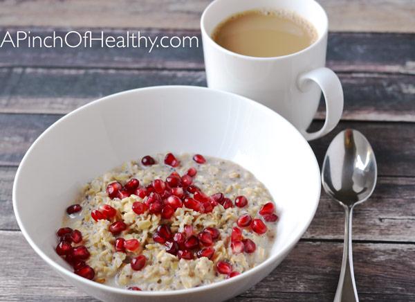 WIAW breakfast oatmeal