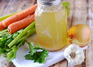 Chicken Bone Broth - a natural nutrient dense super food| APinchOfHealthy.com