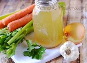 Chicken Bone Broth - a natural nutrient dense super food| APinchOfHealthy.com