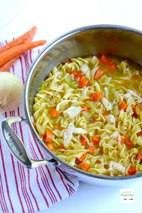 You may never feel the urge to buy the canned stuff again after I show you how to make chicken noodle soup from scratch. | APinchOfHealthy.com