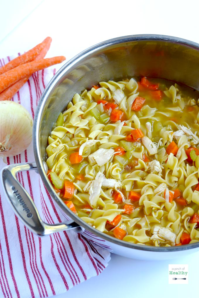 Chicken Noodle Soup from Scratch - A Pinch of Healthy
