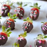 Chocolate Covered Strawberries| A PinchOfHealthy.com