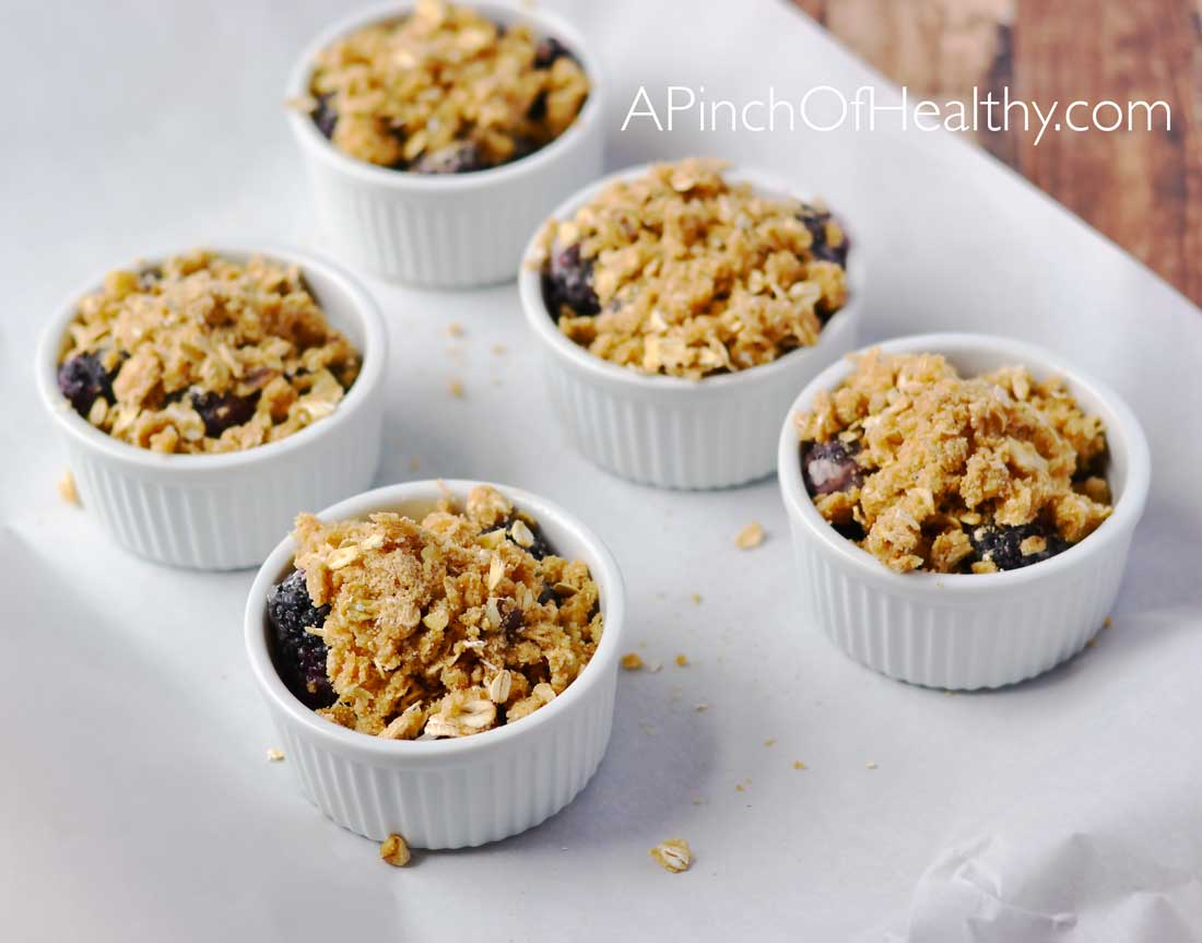 Single Serving Blackberry Crisp| APinchOfHealthy.com
