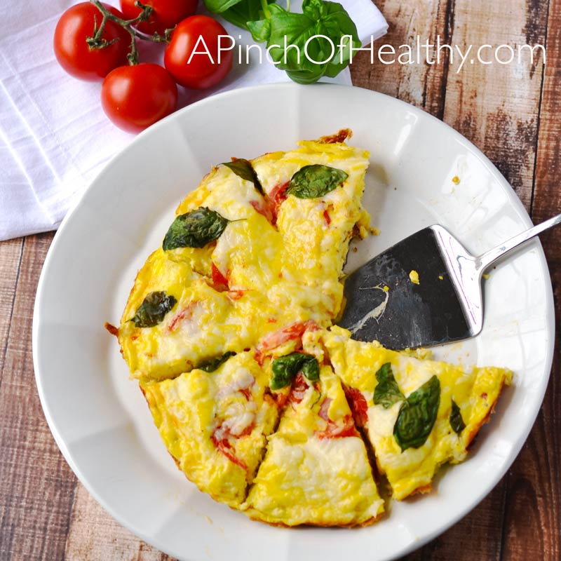 ... tomato basil frittata is a great example. Tasty does not have to equal