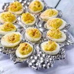 Classic Deviled Eggs  APinchOfHealthy.com