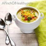 Irish Potato Leek Soup | APinchOfHealthy.com