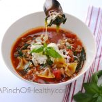 Healthy Lasagna Soup| APinchOfHealthy.com