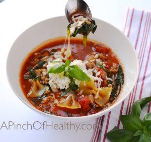 Healthy Lasagna Soup  APinchOfHealthy.com