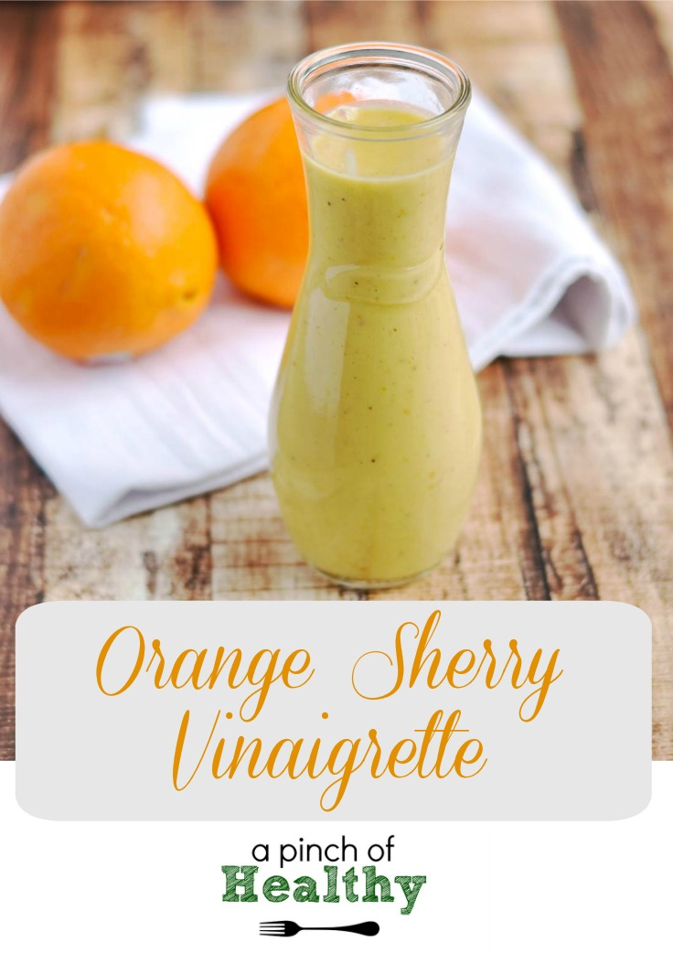 Orange Sherry Vinaigrette| APinchOfHealthy.com