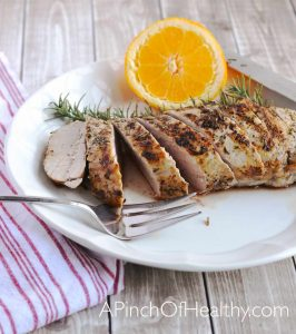 Grilled Pork Tenderloin on the Stovetop| APinchOfHealthy.com