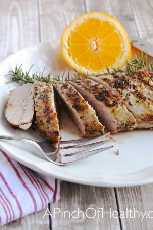 Grilled Pork Tenderloin on the Stovetop  APinchOfHealthy.com