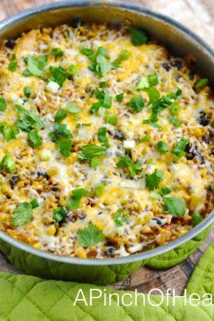 Chicken Enchilada Skillet One Pot Meal