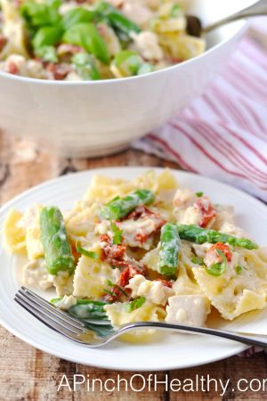 Creamy Garlic Parmesan Pasta - a meal the whole family will love  APinchOfHealthy.com