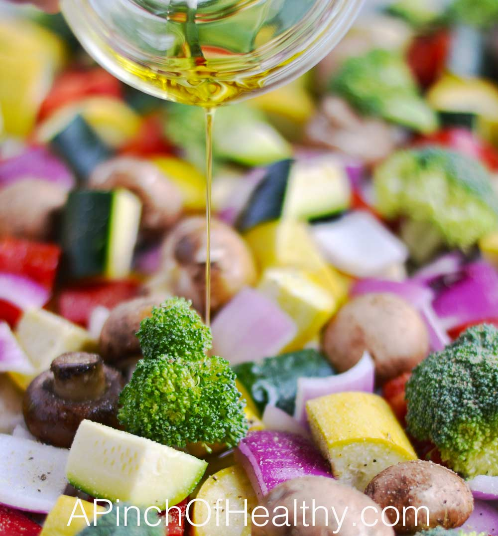 Rainbow Roasted Vegetables - a simple and tasty side dish | APinchOfHealthy.com