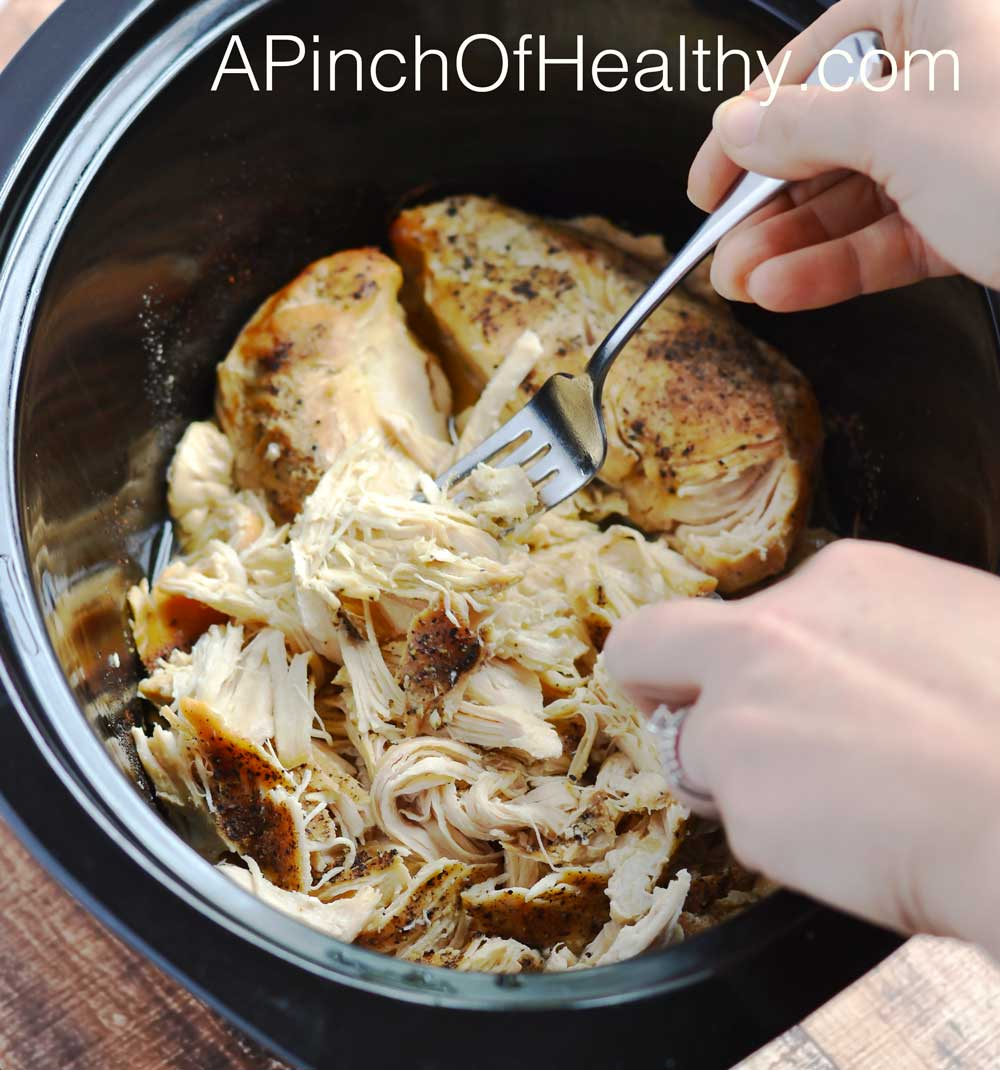 how to cook shredded chicken from frozen