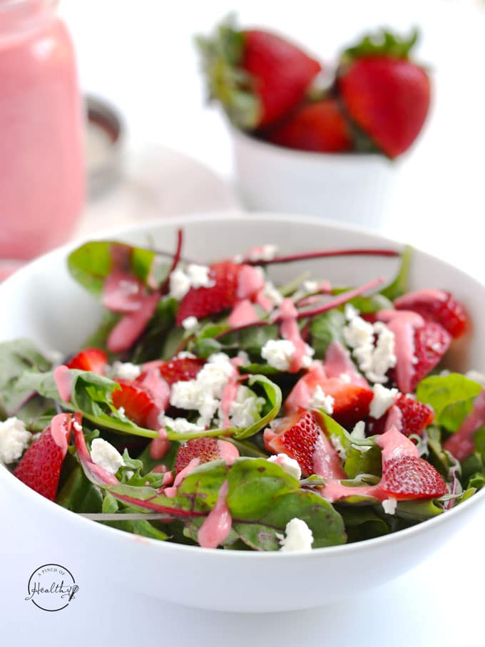 Easy strawberry vinaigrette from scratch