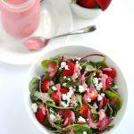 Strawberry Vinaigrette | APinchOfHealthy.com